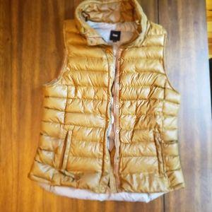 Brown Gap Down Winter Outdoor Vest